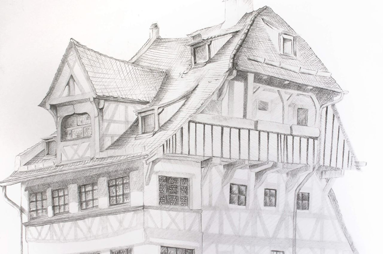 How To Draw The Duerer House With Castell 9000