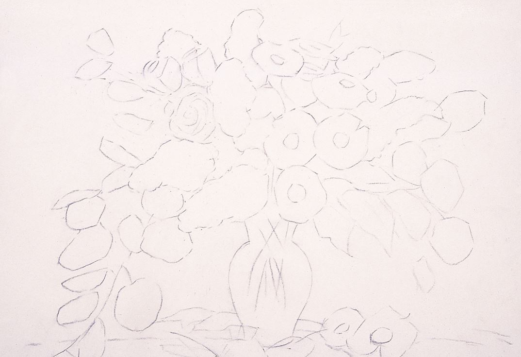 Daisy Flower Line Drawing : Focusing on flowers