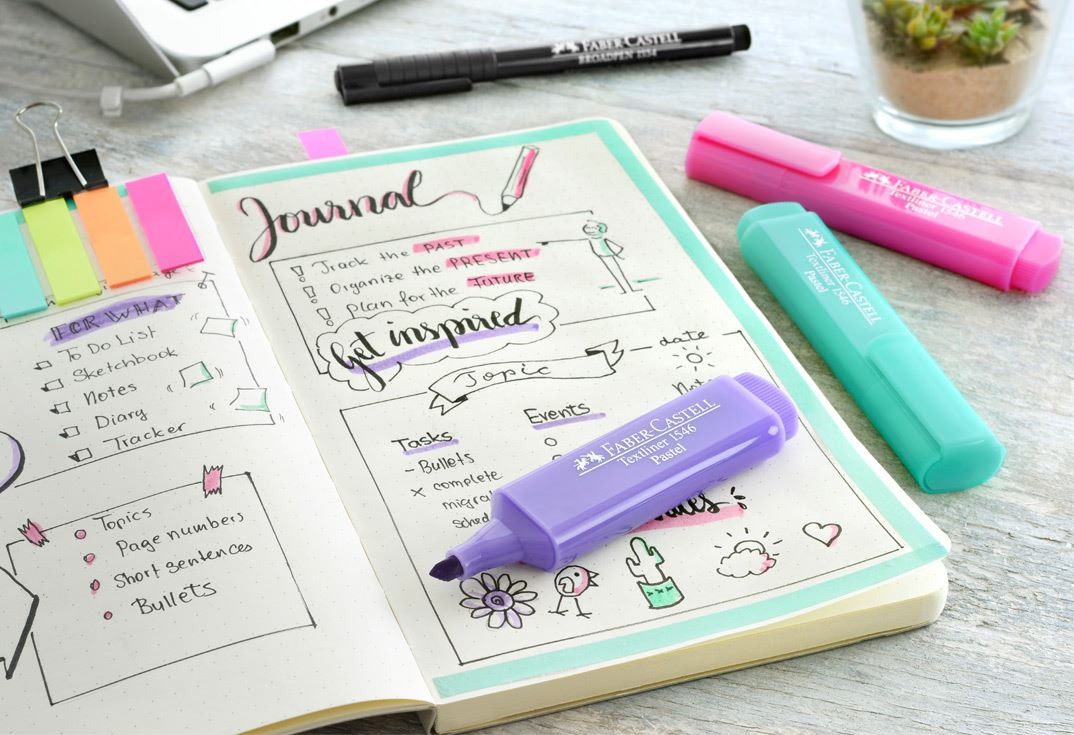 Bullet Journaling Faber Castell Colour To Life 1 The First Page Should Contain Table Of Contents Its Better Allow Two Pages So Theres Room For Extra Topics Consecutively Number Every