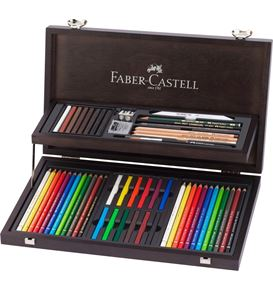 Faber-Castell - Art & Graphic Compendium, wooden case, 53 pieces