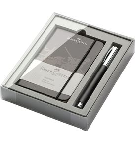 Faber-Castell - AMBITION Black Resin Rollerball & Journal Gift Set
