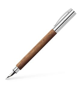 Faber-Castell - Ambition walnut wood fountain pen, F, brown