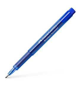 Faber-Castell - Fibre tip pen Broadpen document blue