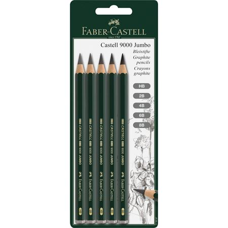 Faber-Castell - Graphite pencils Castell 9000 Jumbo