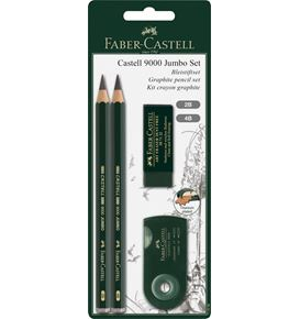 Faber-Castell - Castell 9000 Jumbo drawing set, 4 pieces