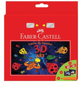 Faber-Castell - Connector felt tip pen, 3D set