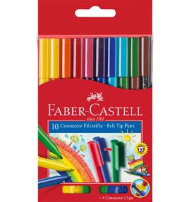 Faber-Castell - Connector felt tip pen, cardboard wallet of 10