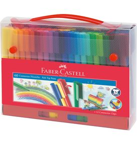 Faber-Castell - Connector felt tip pen set Carrying case, 72 pieces