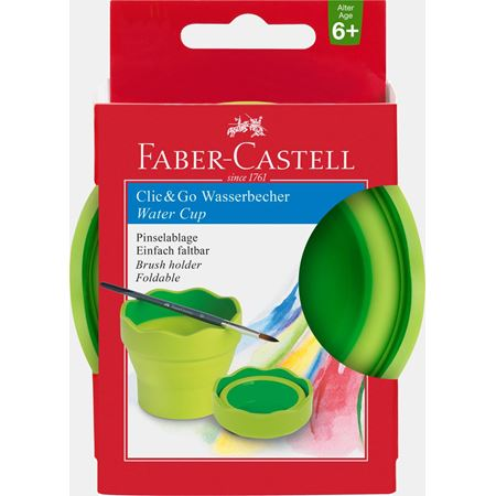 Faber-Castell - Clic&Go water cup, light green