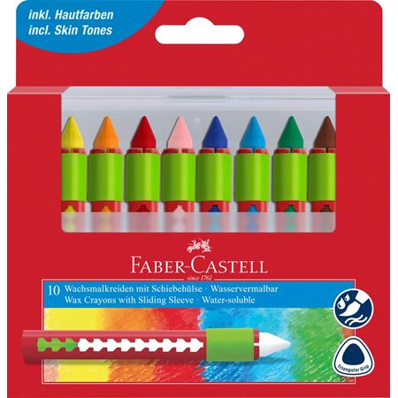 wax crayons water soluble box of 10