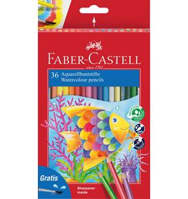 Faber-Castell - Classic Colour watercolour pencils, cardboard wallet of 36