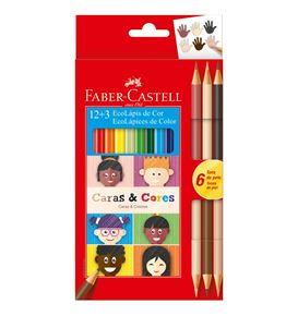 Faber-Castell - Col. Ecopensil Caras & Cores 12+3