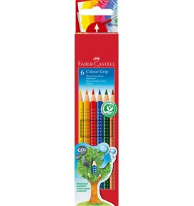 Faber-Castell - Coloured pencil Colour Grip cardboard box of 6