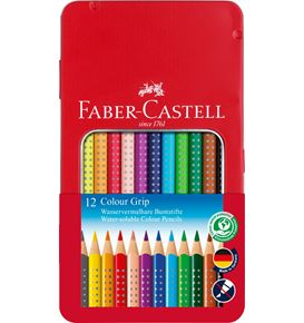 Faber-Castell - Colour Grip colour pencil, tin of 12