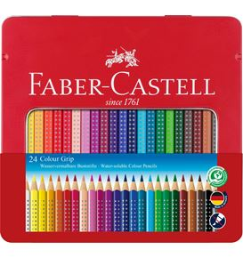 Faber-Castell - Colour Grip colour pencil, tin of 24