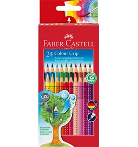 Faber-Castell - Colour Grip colour pencil, cardboard wallet of 24