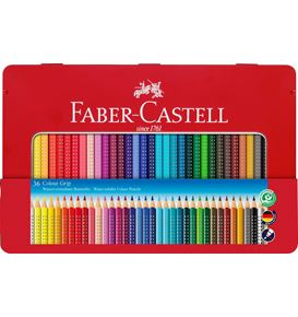 Faber-Castell - Colour Grip colour pencil, tin of 36