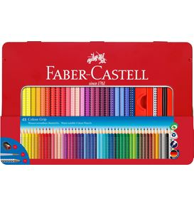 Faber-Castell - Colour Grip colour pencil, tin of 48