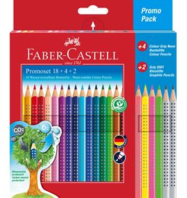Faber-Castell - Colour Grip colour pencils, cardboard wallet, 24 pieces