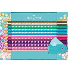 Faber-Castell - Sparkle colour pencil set, tin, 21 pieces