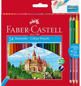 Faber-Castell - Classic Colour colour pencils, cardboard wallet, 28 pieces