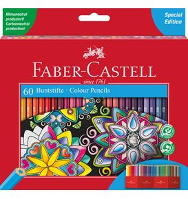 Faber-Castell - Classic Colour colour pencil, cardboard wallet of 60