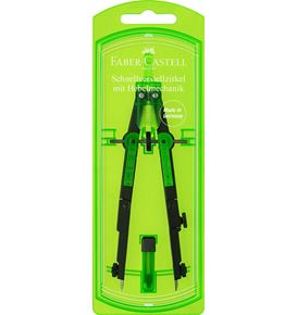 Faber-Castell - Quick-set compass with lever mechanism, black/green