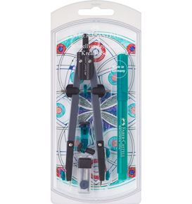 Faber-Castell - Quick-set compass creativity set, 4 pieces