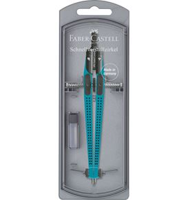 Faber-Castell - Grip quick-set compass, turquoise