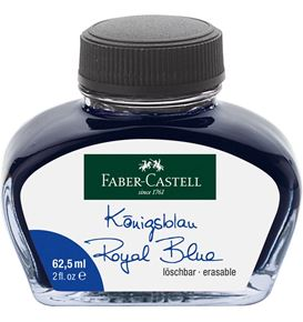 Faber-Castell - Ink glass 62,5 ml Royal Blue, erasable