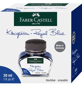 Faber-Castell - Ink bottle, 30 ml, ink blue erasable