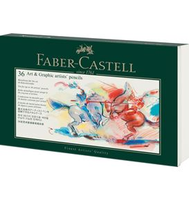 Faber-Castell - Art & Graphic tin of 36 including inlays, empty