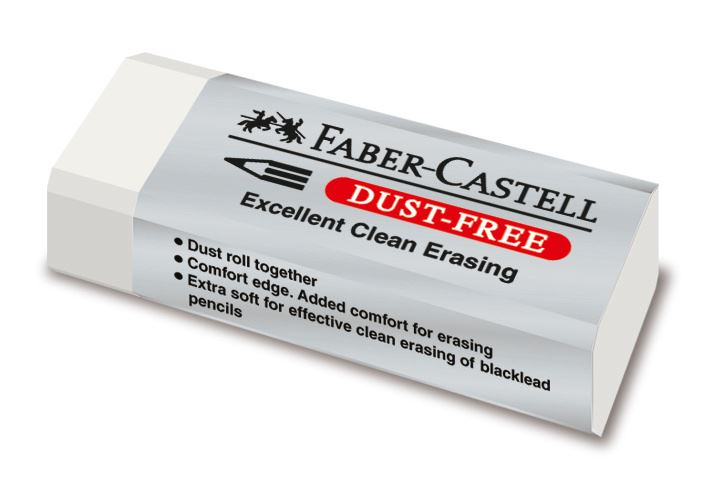 Faber-Castell Dust Free Clean and Soft Erasing Rubbers