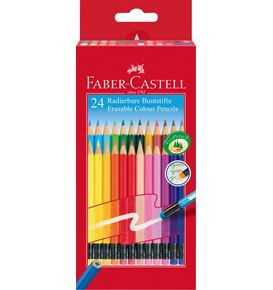Faber-Castell - Classic Colours erasable colour pencils, wallet of 24
