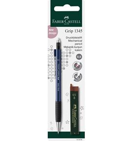 Faber-Castell - Grip 1345/47 mechanical pencil, blue/black, 2 pieces