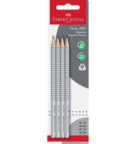 Faber-Castell - Grip 2001 graphite pencil, set of 4, H/HB/B/2B