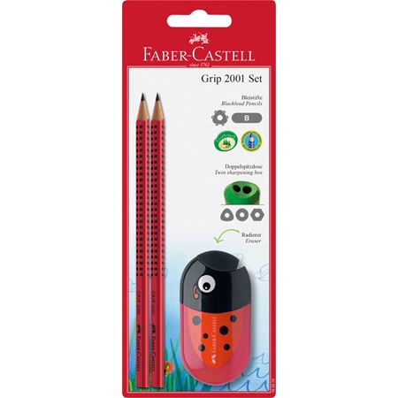 Faber-Castell - Grip 2001 graphite pencil set, B, 3 pieces