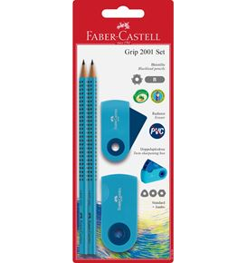 Faber-Castell - Pencil set Grip 2001 - Sleeve blue
