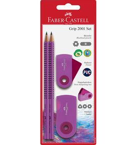 Faber-Castell - Pencil set Grip 2001 - Sleeve purple
