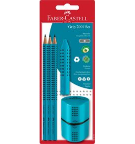 Faber-Castell - Grip graphite pencil set, turquoise, 5 pieces