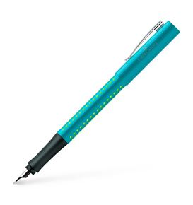 Faber-Castell - Grip 2010 fountain pen, nib width B, turquoise-light green