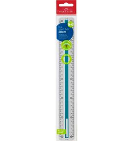 Faber-Castell - Grip ruler, 30 cm, break resistant, blue/turquoise