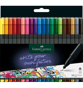 Faber-Castell - Grip Finepen, 0.4, plastic wallet of 20