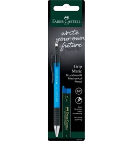 Faber-Castell - Grip Matic mechanical pencil set, 0.7 mm, 3 pieces
