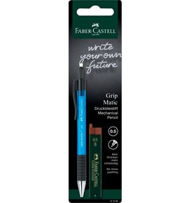 Faber-Castell - Grip Matic mechanical pencil set, 0.5 mm, 2 pieces