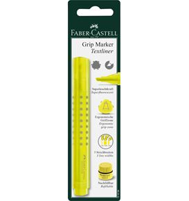Faber-Castell - Grip Marker Textliner, blister card of 1, yellow