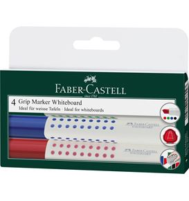 Faber-Castell - Whiteboard marker Grip 1586 chisel set of 4