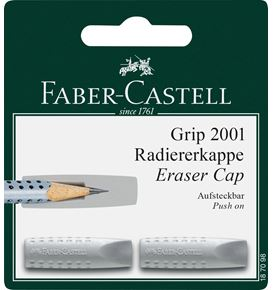 Faber-Castell - Grip 2001 eraser cap eraser, grey, set of 2