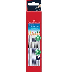 Faber-Castell - Coloured pencil Grip for dark surfaces cardboard box of 6