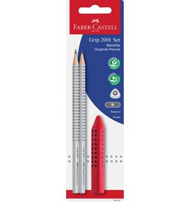 Faber-Castell - Grip 2001 graphite pencil set, 3 pieces
